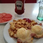 BC Benny with a side of fresh tomatoes! mmm!