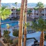 The pool/hot tub courtyard