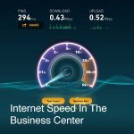 This was the speed in the Business Center. Advertised as being faster than in-room service.