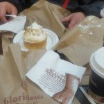 Mini mirangue pie from Gloria Jean's goes really well with their signature Chai Latte..yummio..g