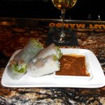 5 different kinds of spring rolls but the marinated pork are my favorite with peanut sauce.