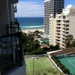 from our room you can see the whole town and beach, tenniscourts, swimmingpools.
