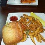 Sandwich and Parmesan fries