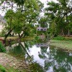 L'Indre et une partie du parc.