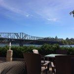 Alexandra bridge from museum cafe