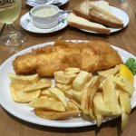 Small Haddock and 1/2 portion of chips - complimentary B&B
