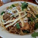 Shrimp dumplings, Laos Shrimp Phat Thai, and Laos Beef Jerky