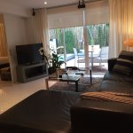 Room T101 with direct pool access. Private relaxing area outside including sun loungers