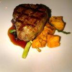 Bison filet with sweet potatoe