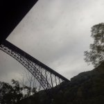 Bridge from river bottom