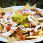 Nachos, with shrimp.