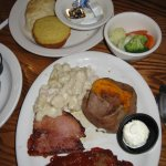 Dinner Sampler: Meatloaf, Sugar Ham, Chicken&Dumplings, Baked Sweet Potato, Season Veggies
