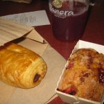 Chocolate Pastry and Raspberry Loaf. Acai Berry Green Tea