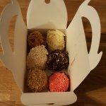 Six various delicious meringues