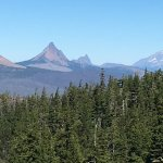 view of Belknap Crater, Mt. Washington, Three Fingered Jack and Mt Jefferson