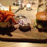 Portobello Mushroom Burger with Sweet Potato Fries
