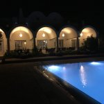 Our beautiful pool by night!
