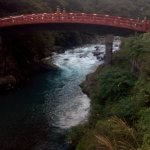 the bridge and the rushing water