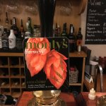 The Dolaucothi Arms - the pump for a pint of Sunshine, a golden ale from Monty's Brewery, Powys