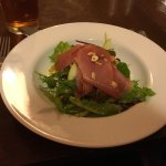 The Dolaucothi Arms - my starter of parma ham on a bed of various lettuce with slices of avacado