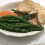 Marabella Green Beans, Chips and a Carrot