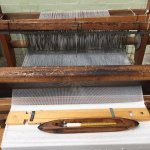 You can get up close to much of the equipment, including the hand looms.