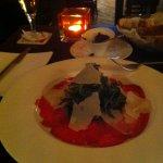 Carpaccio con parmigiano e tartufo