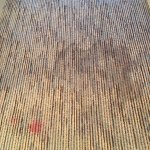 Stained, sticky carpet