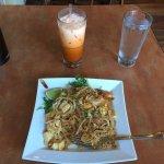 Pad Thai and tea