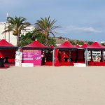 stand maghreb sulla spiaggia