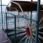 The Breezy Belle at Breezy Point Resort is powered by paddle wheels