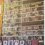 pic of the tap list on 9/21/16