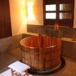 Wooden tub in Spa