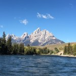 View of the Tetons from the raft.