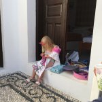 Our daughter celebrating her 3rd birthday in Lindos