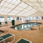 Our indoor heated pool & spa are available year round.