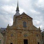 L'Eglise Abbatiale vue de la Grande Terrasse Ouest
