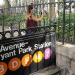 Metro 7 en Bryant , en dirección High Line