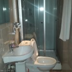 Toilet & bath... using the toilet is a bit clumsy. cannot accommodate plus sized people