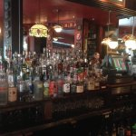 The old wooden bar