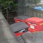Industrial bins instead of loch view