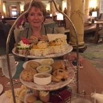 Afternoon tea for two - plenty to take a box back to your room