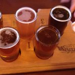 """Flight"" of Montana brewed beers"