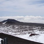 looking west towards Haleakala Maui from 13,796 Ft (4207M)
