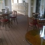 Enjoy lunch or dinner on our enclosed deck.