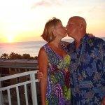 My husband & I enjoying the sunset