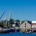 Charlestown naval dockyard from boat