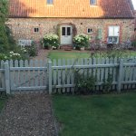 View from enclosed garden cowslip barn