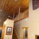 30 foot high ceiling from living to 2nd level