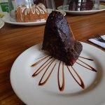 Torta de chocolate y banano en Matilde Blain.
